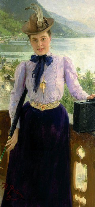 Portrait of Natalia Bori Nordman. 1900. Ilya Repin