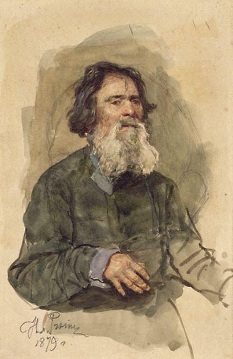 Бородатый крестьянин. 1879. Илья Ефимович Репин