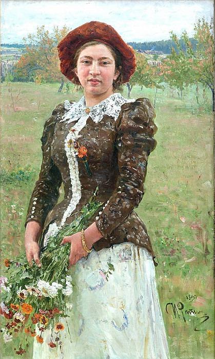 Осенний букет. Портрет В.И.Репиной, дочери художника. Илья Ефимович Репин