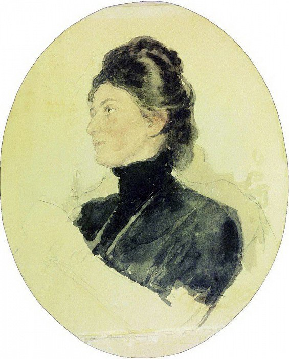 Portrait of Maria Bori Chukovskaya. 1909. Ilya Repin