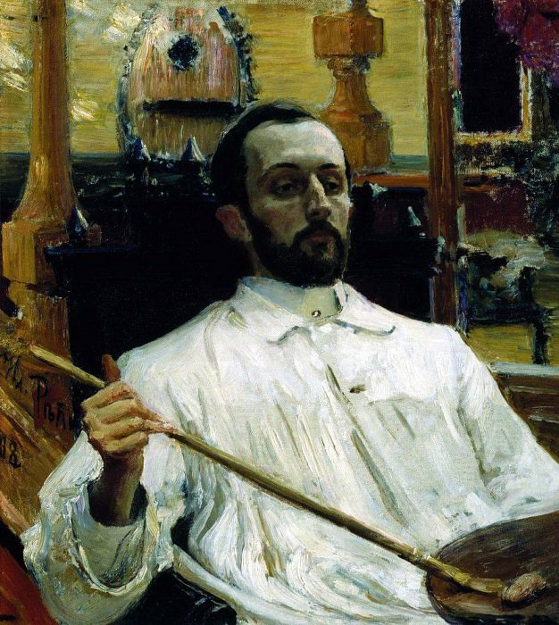 Portrait of the artist Kardovsky. 1896-1897. Ilya Repin