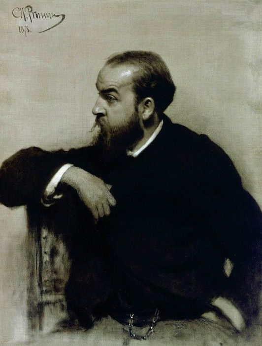 Portrait of the artist R. S. Levitsky. 1878. Ilya Repin