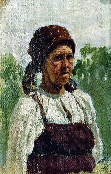 old woman. Ilya Repin