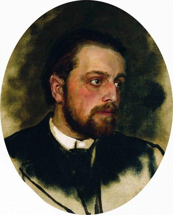 Portrait Chertkov. End 1880 - beginning 1890. Ilya Repin