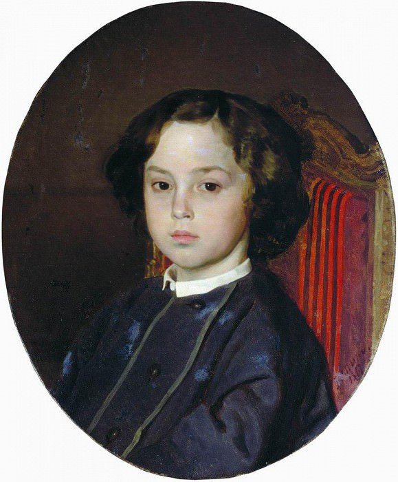 Portrait of a boy. 1867. Ilya Repin