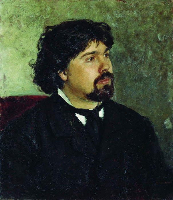 Portrait of the Artist VISurikov. 1875. Ilya Repin