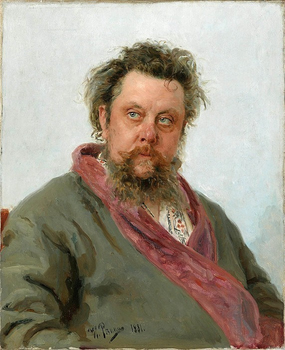 Portrait of the composer M.P. Mussorgsky. Ilya Repin