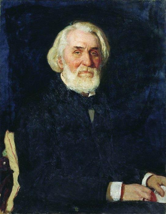 Portrait of Ivan Turgenev. 1879. Ilya Repin