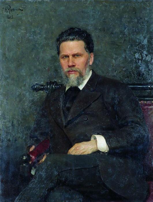 Портрет художника И. Н. Крамского. 1882. Илья Ефимович Репин