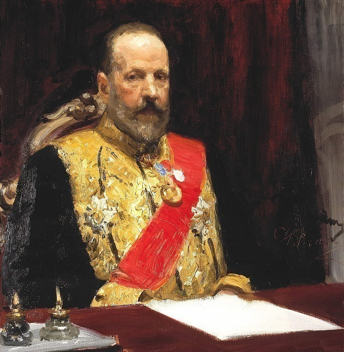 Portrait of S.Yu. Witte, Minister of Finance, later Chairman of the Cabinet of Ministers. Ilya Repin