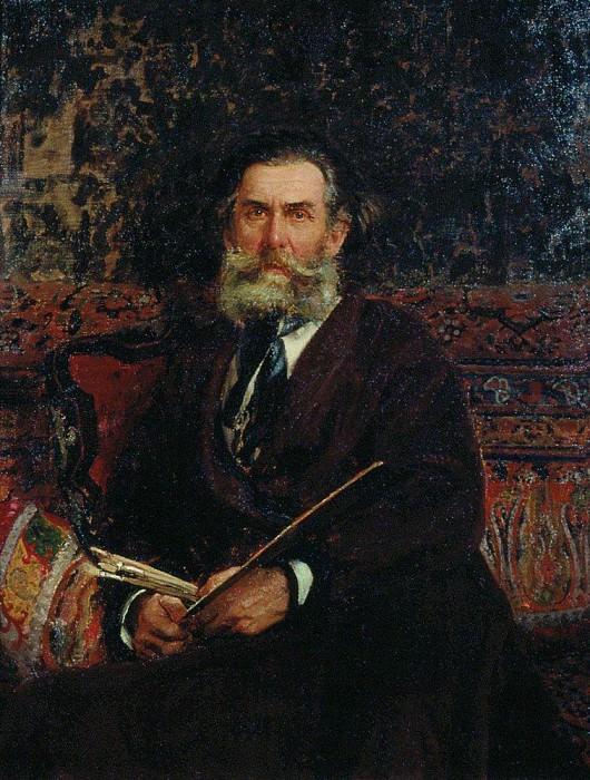 Portrait AP Bogolyubov. 1876. Ilya Repin