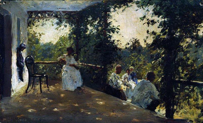 On the terrace. 1908. Ilya Repin