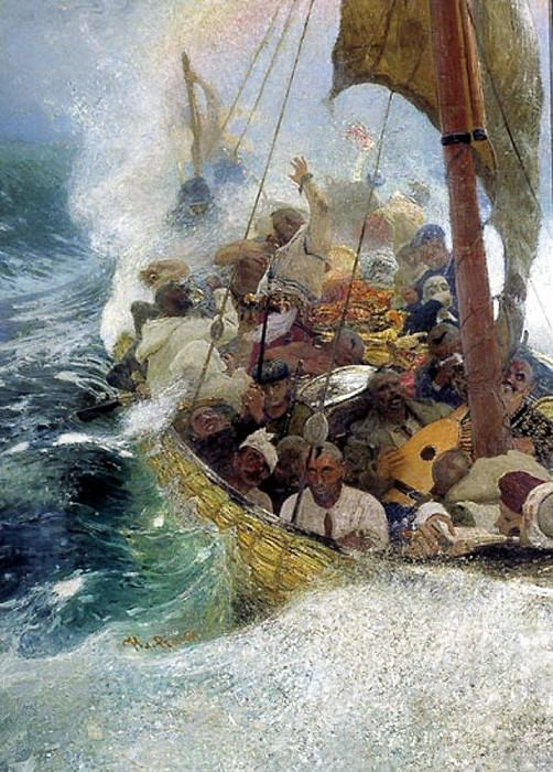 Cossacks on the Black Sea. 1908. Ilya Repin