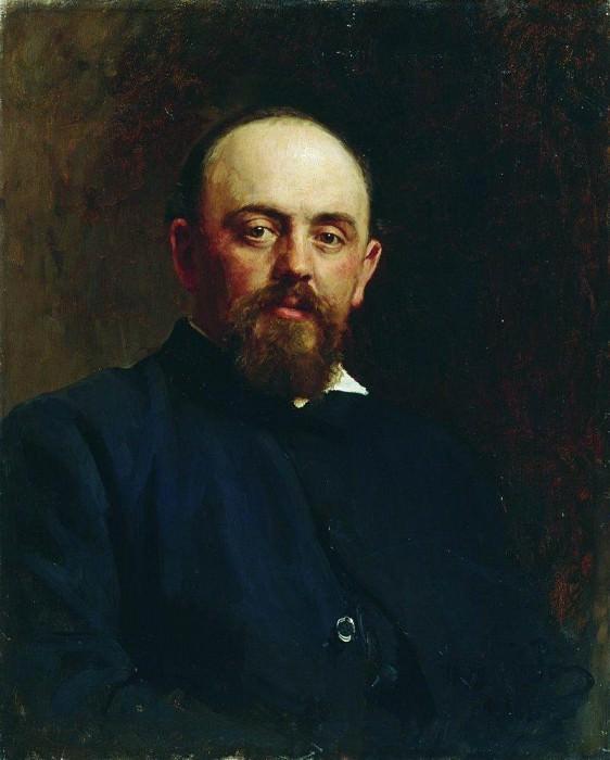 Portrait of S. Mamontov. 1878. Ilya Repin
