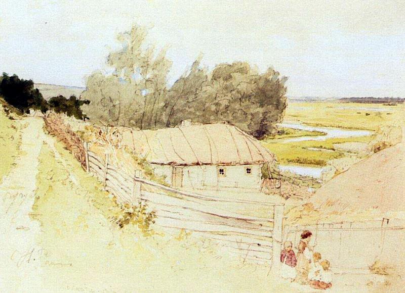 Village mokhnachev near Chugueva. 1877. Ilya Repin