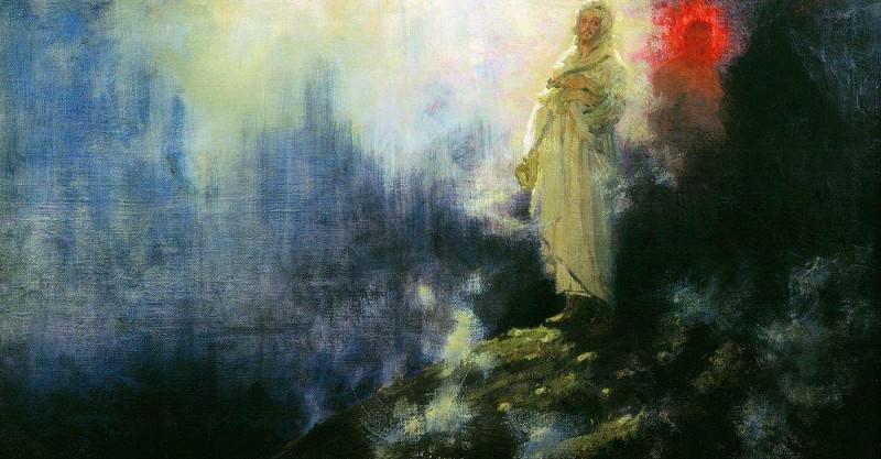 Go behind me, Satan. Ilya Repin