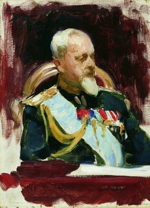 Study for the painting ceremonial meeting of the State Council May 7, 1901 goda2. 1903. Ilya Repin