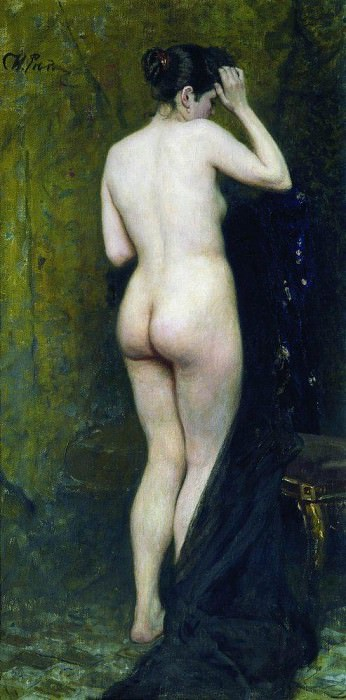 Nude model (from behind). 1895-1896. Ilya Repin