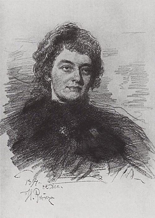 Portrait of Zinaida Gippius. 1894. Ilya Repin