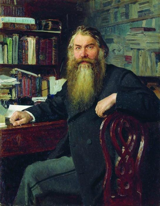 Portrait of the historian IE Zabelin. 1877. Ilya Repin