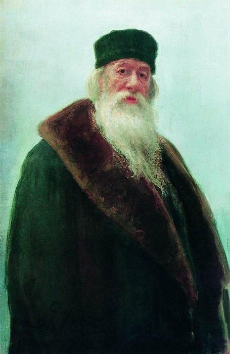 Portrait of Vladimir Vasilyevich Stasova. 1900. Ilya Repin