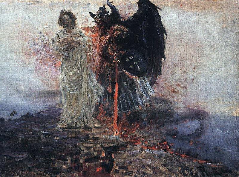 Go behind me, Satan. 1895. Ilya Repin