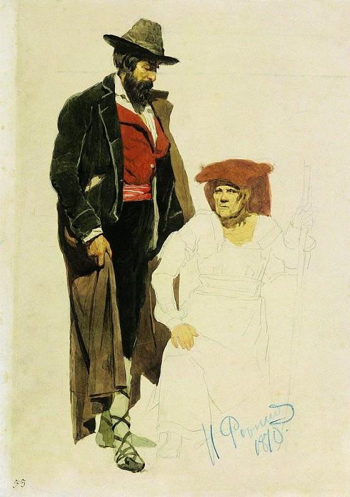 Italian sitter. 1870. Ilya Repin