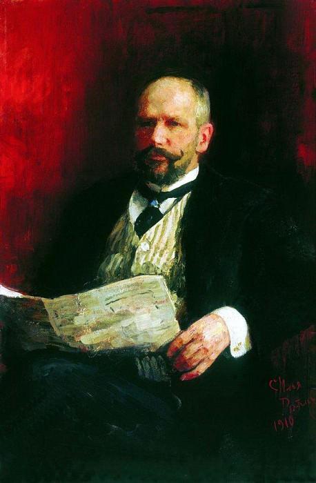 Portrait of Pyotr Stolypin. 1910. Ilya Repin