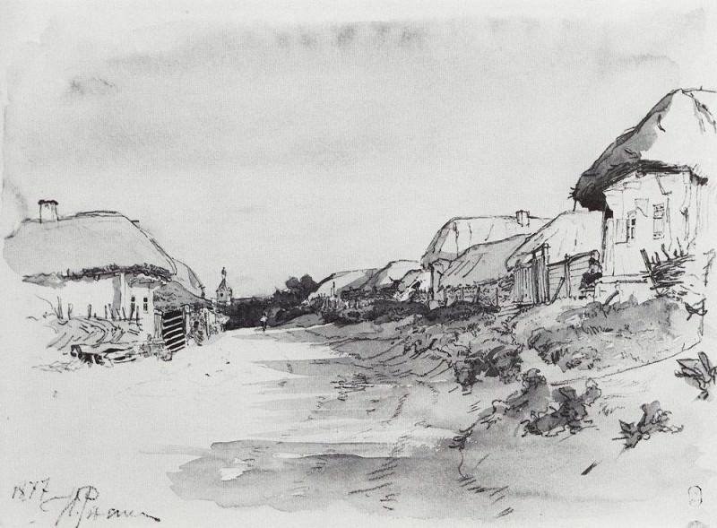 Village mokhnachev. 1877. Ilya Repin
