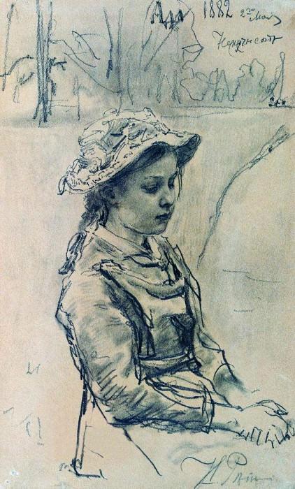 Girl Hell. 1882. Ilya Repin