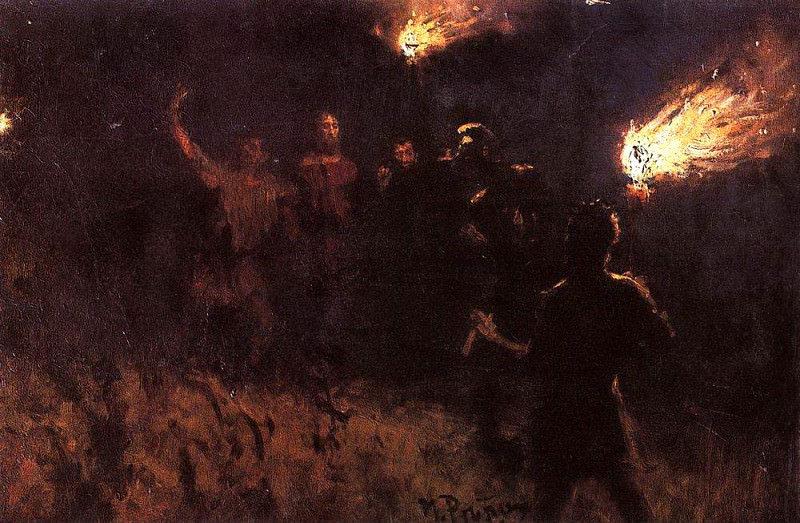 Taking Christ ward. 1886. Ilya Repin
