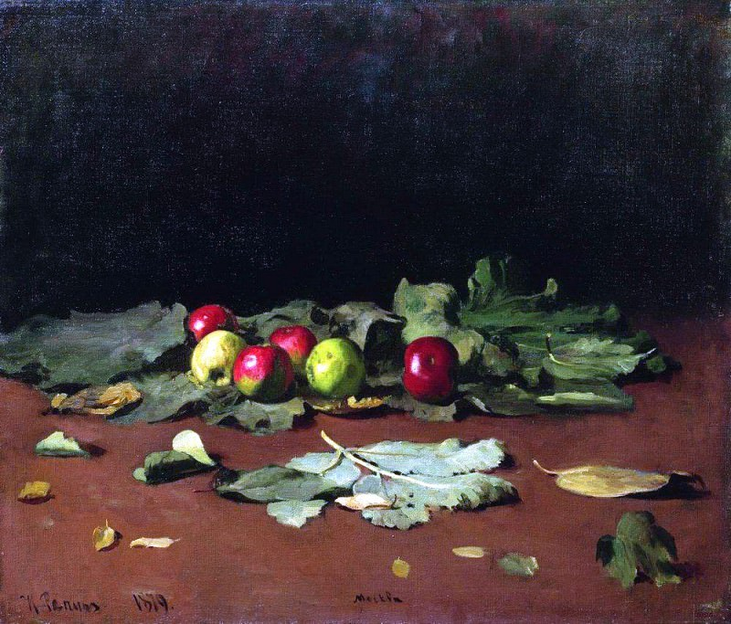 apples and leaves. 1879. Ilya Repin