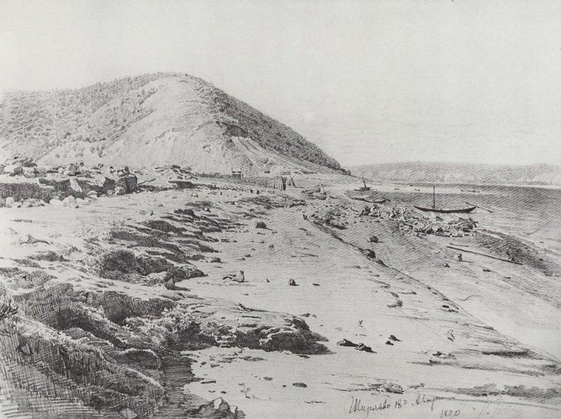 Shiryaev ravine on the Volga. 1870. Ilya Repin