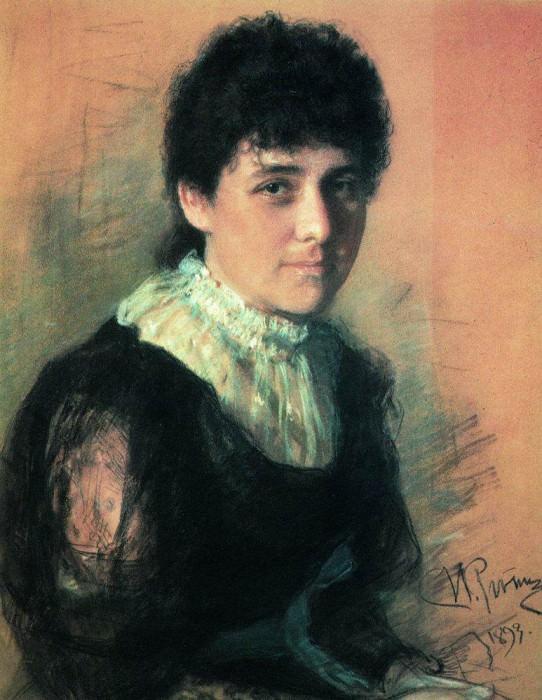 Portrait of the sculptor EP Tarkhanova - Antokolsky. 1893. Ilya Repin