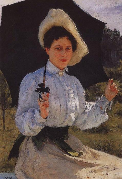 In the sun. Portrait of Ilya Repin. 1900. Ilya Repin