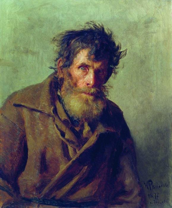 Shy Peasant. 1877. Ilya Repin