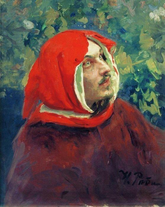 Portrait of Dante. Ilya Repin