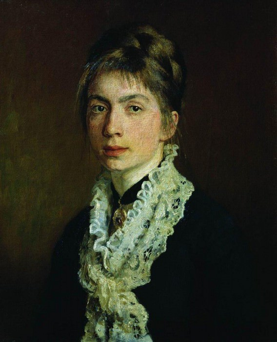 Portrait MP Shevtsova, wife of AA Shevtsov. 1876. Ilya Repin