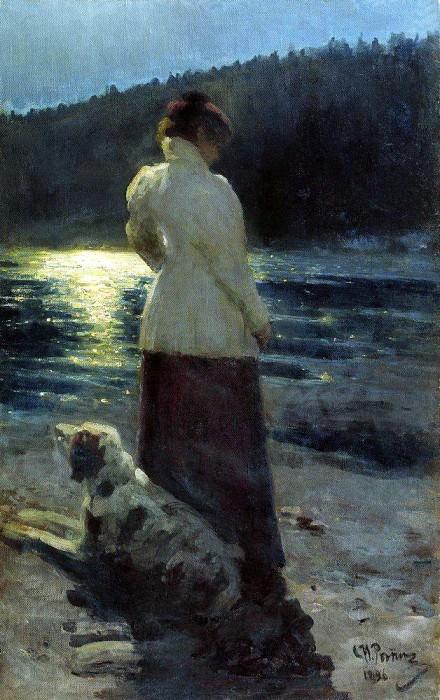 Луная ночь. Здравнево. 1896. Илья Ефимович Репин