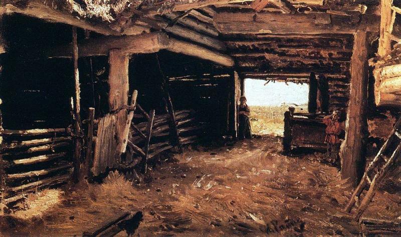 Peasant patio. 1879. Ilya Repin