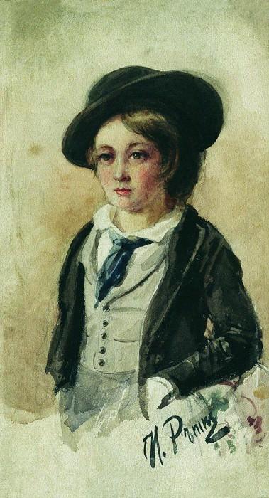 Portrait of a Boy. Ilya Repin