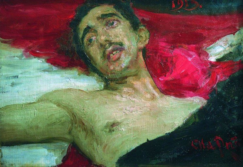 Wounded. 1913. Ilya Repin