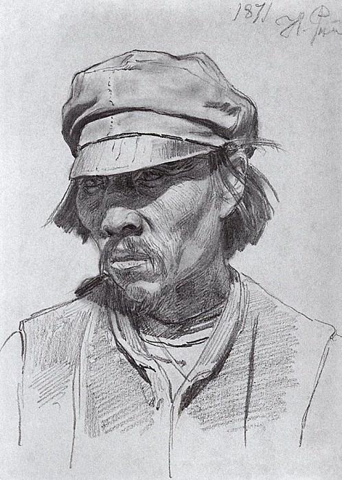 Head Kalmyk. 1871. Ilya Repin