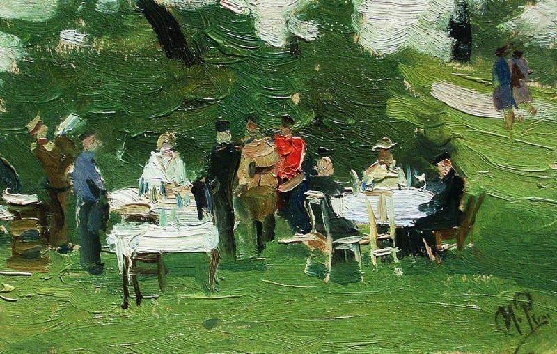Picnic. 1890. Ilya Repin