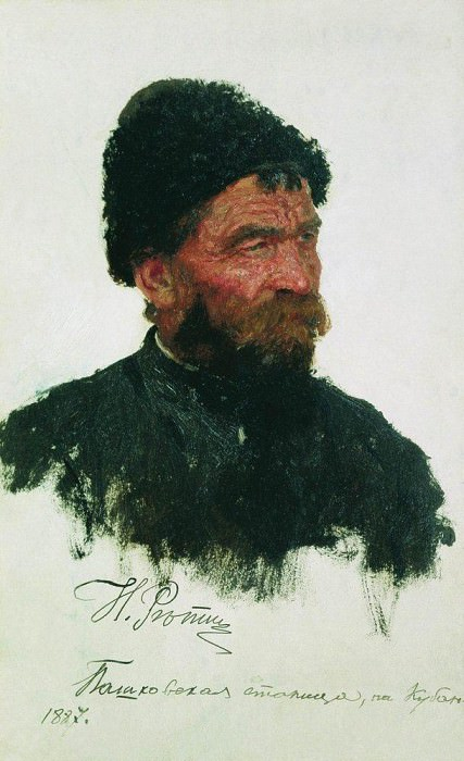 head Cossack. Ilya Repin