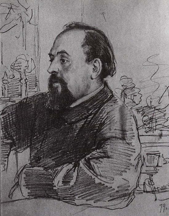 Portrait of S. Mamontov. 1879. Ilya Repin