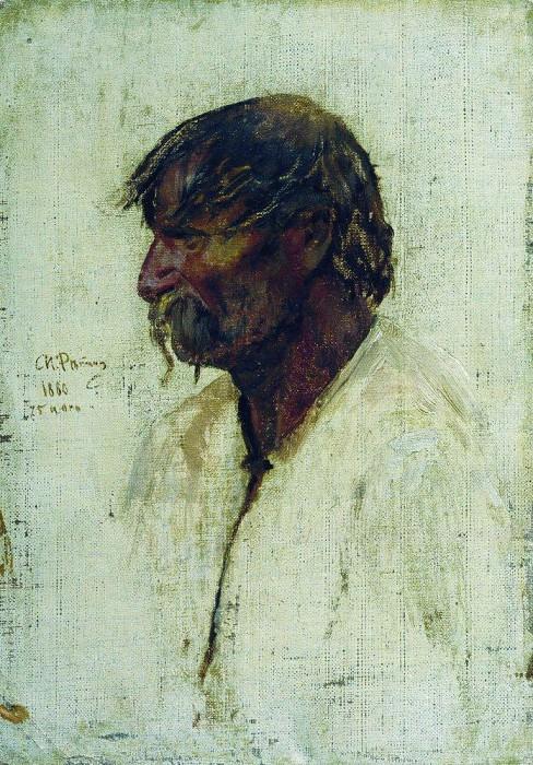 Ukrainian peasant. 1880. Ilya Repin