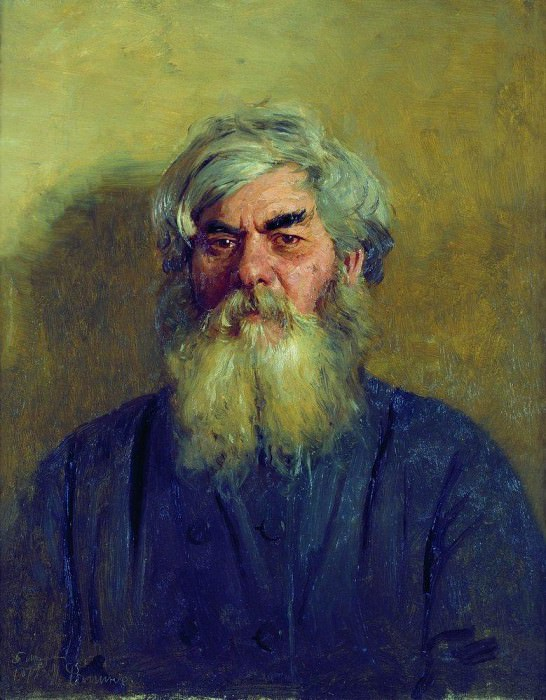 guy with a bad eye. 1877. Ilya Repin