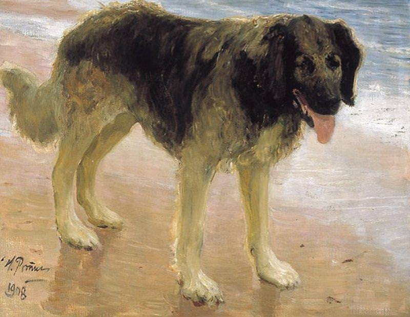 Mans best friend (dog). 1908. Ilya Repin