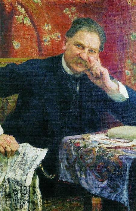 Portrait YM Vengerov. 1915. Ilya Repin